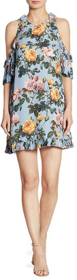 DELFI Collective Minnie Cold-Shoulder Floral-Print Dress