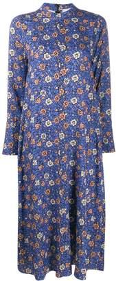 Alysi floral print long-sleeved dress