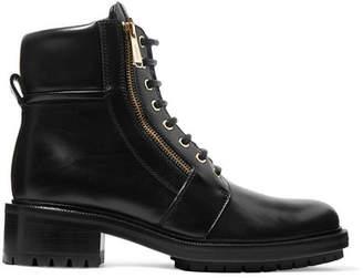 Balmain Ranger Logo-embellished Leather Ankle Boots - Black
