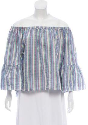 See by Chloe Off-The-Shoulder Striped Blouse