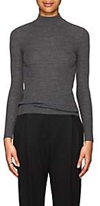 The Row Women's Steve Rib-Knit Wool Mock Turtleneck Sweater - Grey Melange