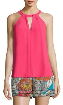 Trina Turk Quince Crepe Halter Top $168 thestylecure.com