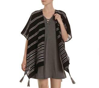 Kelly & Katie Stripe Fringe Kimono - Women's