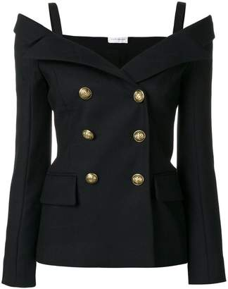 Faith Connexion off-the-shoulder fitted blazer