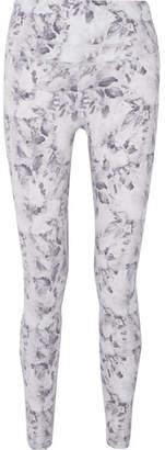 Varley Biona Floral-print Stretch Leggings - White