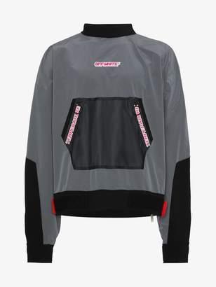Off-White mesh pocket anorak sweatshirt