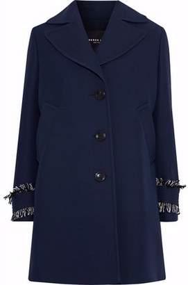 Derek Lam Frayed Wool And Silk-blend Crepe Coat