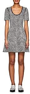 Opening Ceremony Women's Zebra Jacquard Fit & Flare Dress-Black