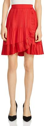 Maje Jonetta Ruffle-Trim Skirt