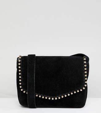 Accessorize Becky suede bead trim cross body bag