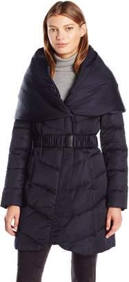 T Tahari Women's Matilda Zip Down Coat with Shawl Hood