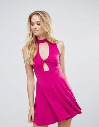 Love Twist Front Skater Dress