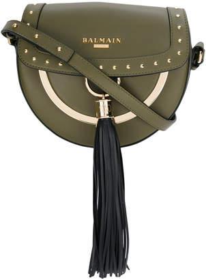 Balmain tassel saddle shoulder bag