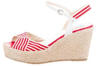 LK Bennett Striped Wedge Sandals