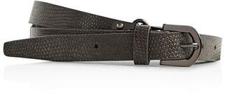 Reiss Lilly Embossed Leather Belt