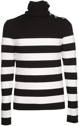 Balmain Button Shoulder Sweater