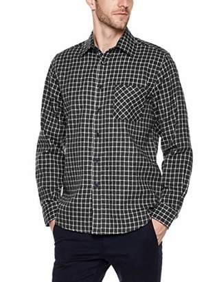 Trimthread Men's Casual Long Sleeve Regular Fit Lightweight Plaid Flannel Button Up Over-Shirt (