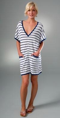 Seaton Striped Cashmere Poncho Tunic