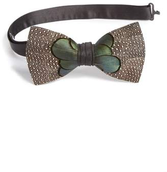 BRACKISH AND BELL Brackish & Bell McCalley Feather Bow Tie