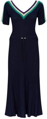 Sandro Knitted Stripe Midi Dress