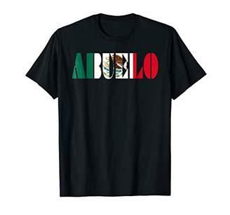 Mens ABUELO T-Shirt Tee Shirt Mexican Flag Grandfather Grandpa