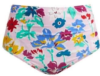 Araks Mallory Liberty Print High Waisted Bikini Briefs - Womens - Pink Multi
