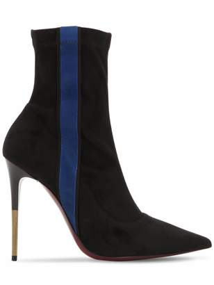Ernesto Esposito 105mm Stretch Faux Suede Ankle Boots