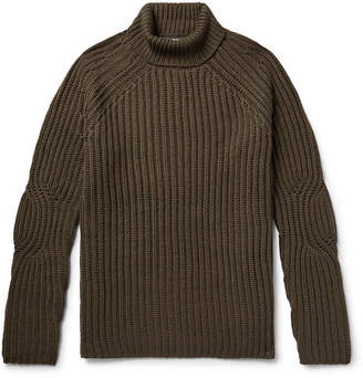Neil Barrett Ribbed Wool-Blend Rollneck Sweater