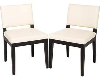 Pair of Desiron Ostrich Leather Dining Chairs