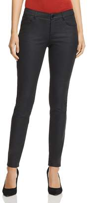 Lafayette 148 New York Mercer Coated Skinny Jeans in Black