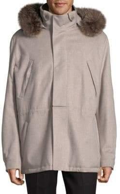 Loro Piana Fox Fur-Trimmed Jacket