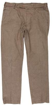 Loro Piana Suede-Accented Dress Pants