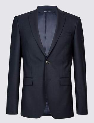 Marks and Spencer Navy Slim Fit Wool Jacket
