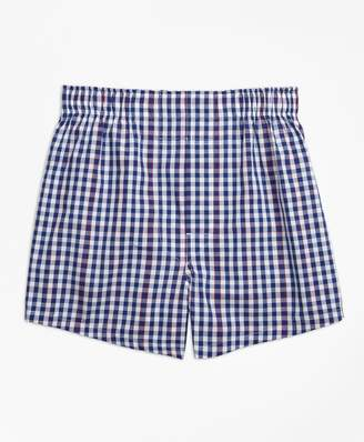 Brooks Brothers Boys Gingham Boxers
