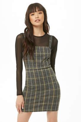 Forever 21 Plaid Print Mini Dress