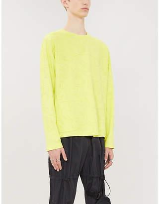 McQ Swallow-print cotton-jersey T-shirt