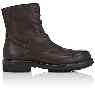 Barneys New York Men's Lug-Sole Washed Leather Boots