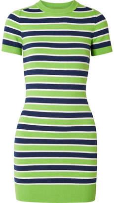 JoosTricot - Striped Stretch Cotton-blend Mini Dress - Green