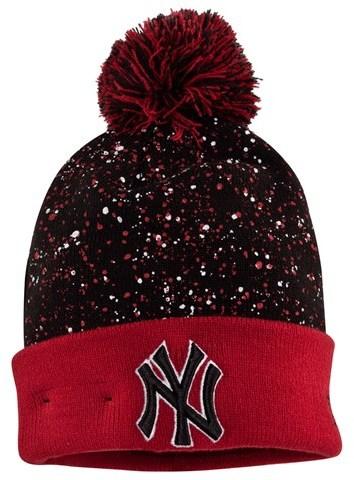 New Era New York Yankees Speckled Bobble Beanie