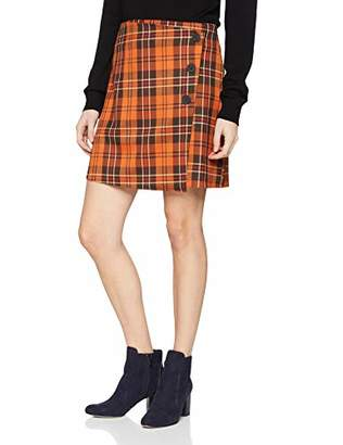 New Look Petite Women's Orla Check6015449 Skirt,8 (Manufacturer Size:8)