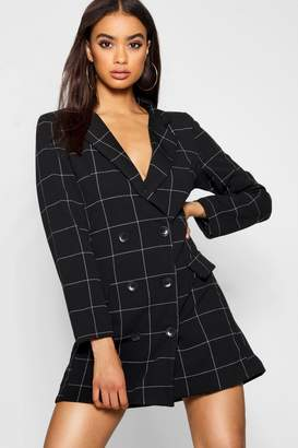 boohoo Window Pane Check Blazer Dress