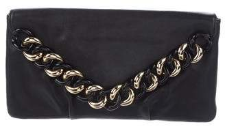 Michael Kors Embellished Leather Envelope Clutch