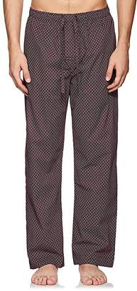 Derek Rose Men's Nelson Arrow-Print Cotton Poplin Pajama Pants