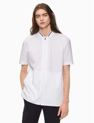 Calvin Klein oversized zip short sleeve shirt