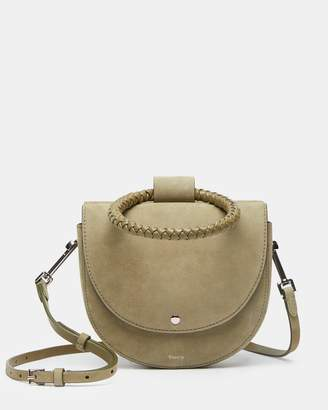 Theory Whitney Bag With Braid Hoop in Suede