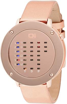 01 The One 01TheOne Women's IRR320RB1 Ibiza Ride Round Bronze Leather Watch