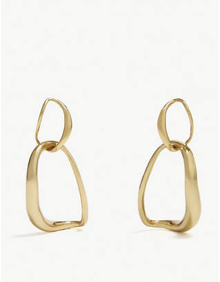 Dinosaur Designs Gold-plated hoop earrings