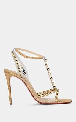 Christian Louboutin Women's Faridaravie Leather & PVC Sandals - Gold
