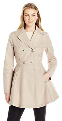 Lark & Ro Women's Fit and Flare Trench Coat