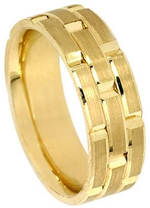 Rolex American Set Co. Men's 18k Yellow Gold Inspired 8.5mm Comfort Fit Wedding Band Ring size 5.25